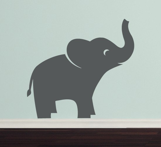 Cute Zoo Elephants Vinyl Wall Decal Stickers Living Room