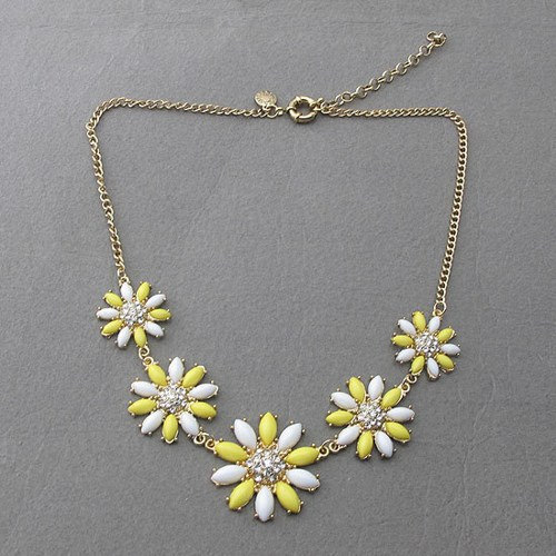 Yellow diamond five flower necklacebeaded jewelrybubble necklace yellow diamond five flower necklacebeaded jewelrybubble necklacebridesmaid giftsjewelry mightylinksfo