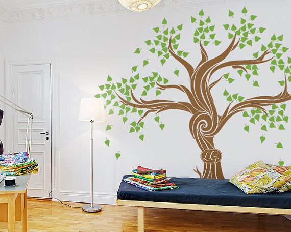 Art Decals Wall Sticker Vinyl Wall Decal stickers living room bed baby room- nursery Large & Art Decals Wall Sticker Vinyl Wall Decal Stickers Living Room Bed ...