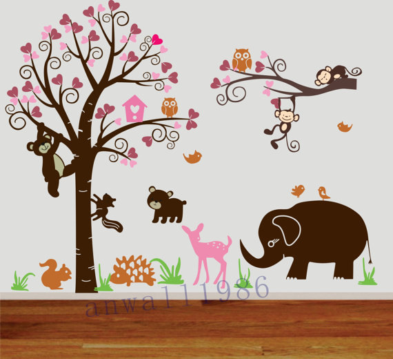 Art decals wall sticker vinyl wall decal stickers living room bed baby room cute bear
