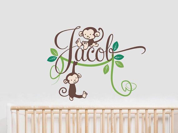 Baby name wall stickers for nursery thenurseries for Baby room decoration wall stickers
