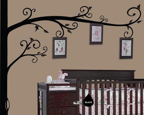 Family Tree Photo Wall Decal Frame Tree Branch Frames Rees Leaf Vinyl Home  Decals Baby Room Part 69