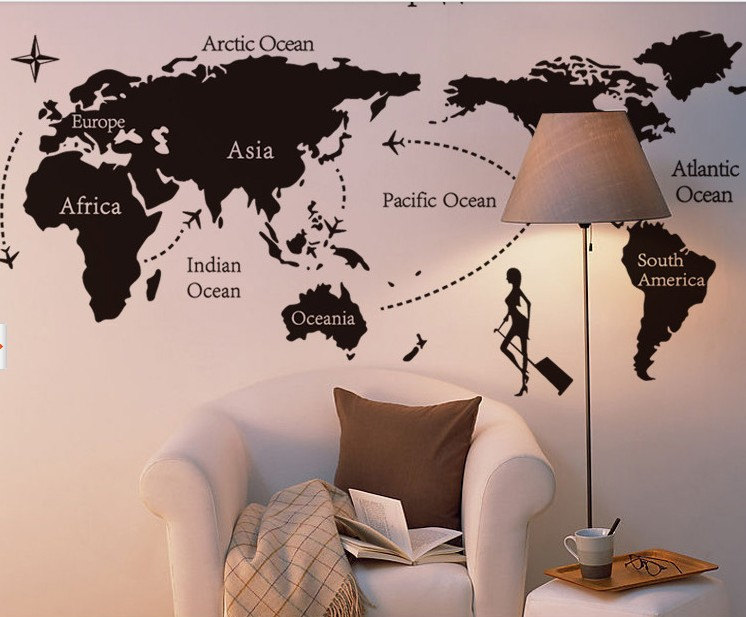 Vinyl wall decal world map tv home house art wall decals wall vinyl wall decal world map tv home house art wall decals wall sticker stickers e23 gumiabroncs Images